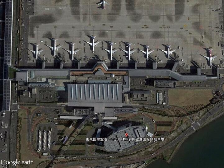 羽田空港線国際線ターミナルの駐車場