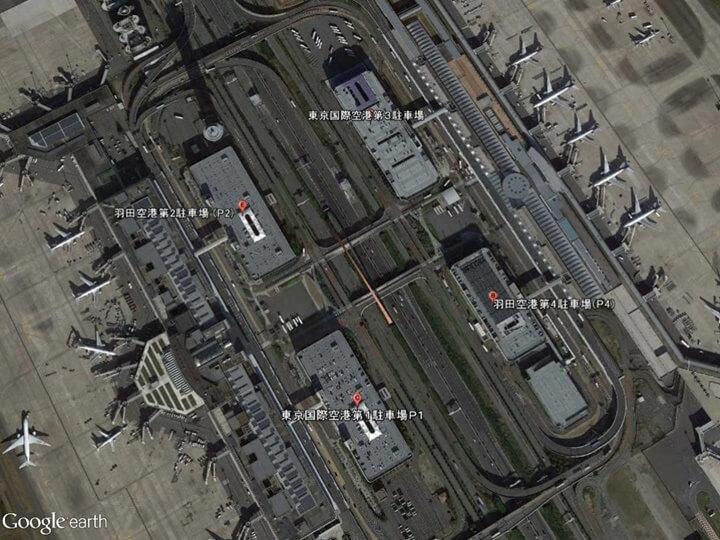 羽田空港国内線ターミナルの駐車場