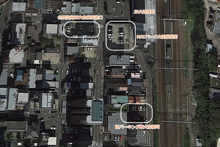 大曽根駅周辺のコインパーキング