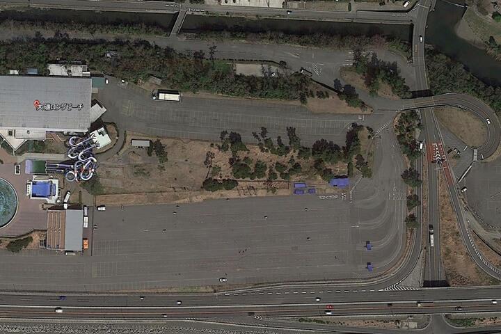 大磯ロングビーチの駐車場