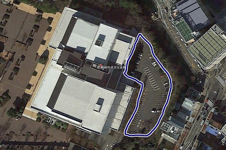 静岡市民文化会館の駐車場